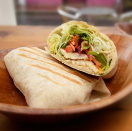 halloumi-salad-wrap